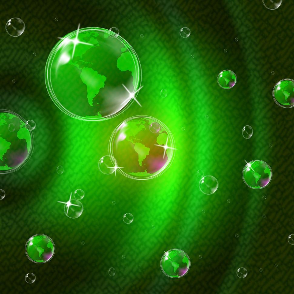 Download Free Stock Photo of Green Glow Indicates Solar System And Blazing