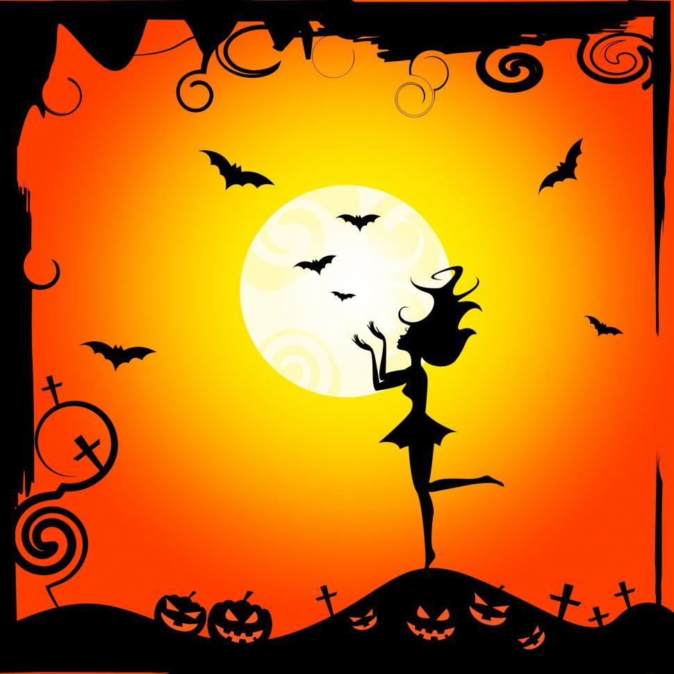 Download Free Stock Photo of Bats Girl Represents Trick Or Treat And Autumn