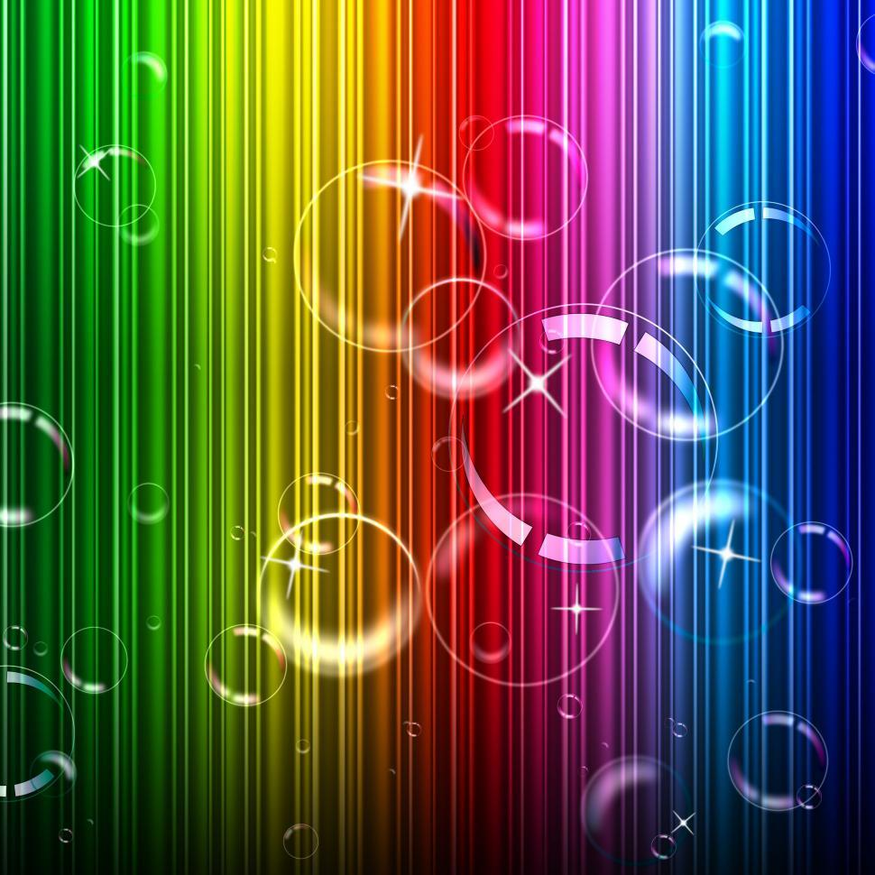 Download Free Stock Photo of Bubbles Background Represents Design Color And Abstract