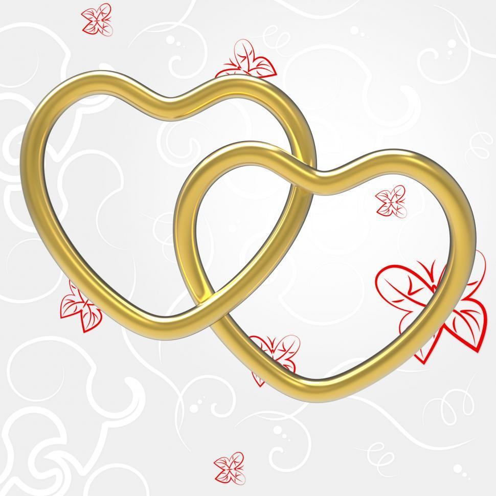 Download Free Stock HD Photo of Wedding Rings Indicates Valentine s Day And Couple Online