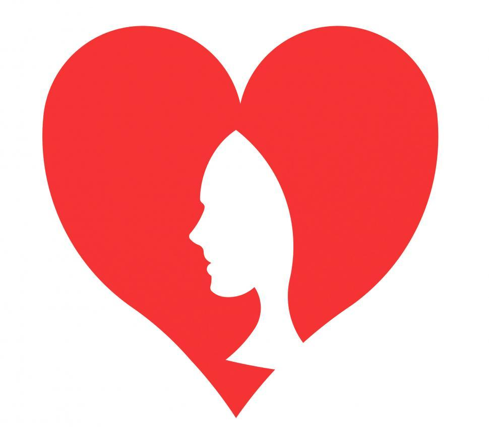 Download Free Stock HD Photo of Heart Woman Indicates Valentine Day And Hearts Online