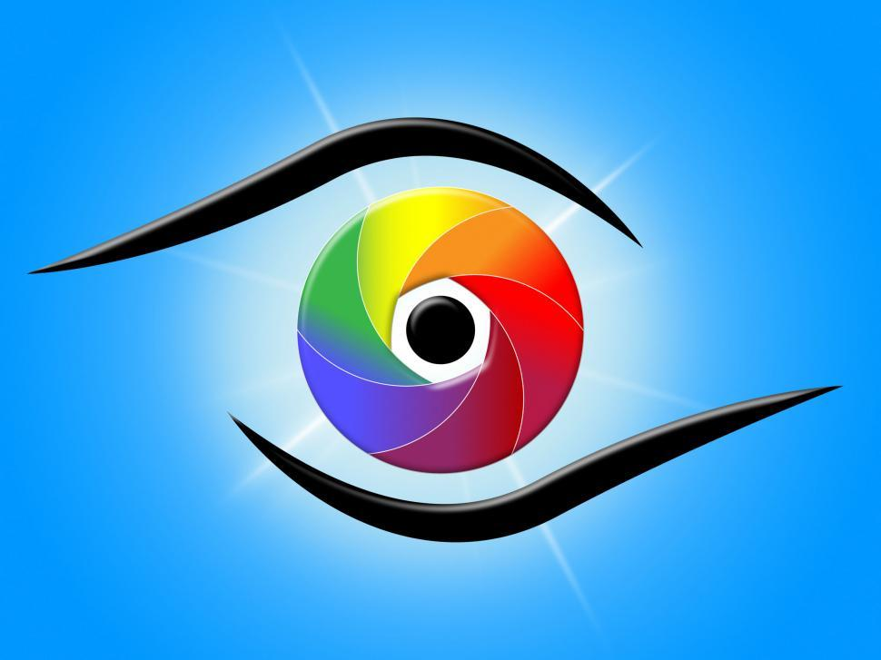 Download Free Stock HD Photo of Eye Blue Represents Color Swatch And Colour Online