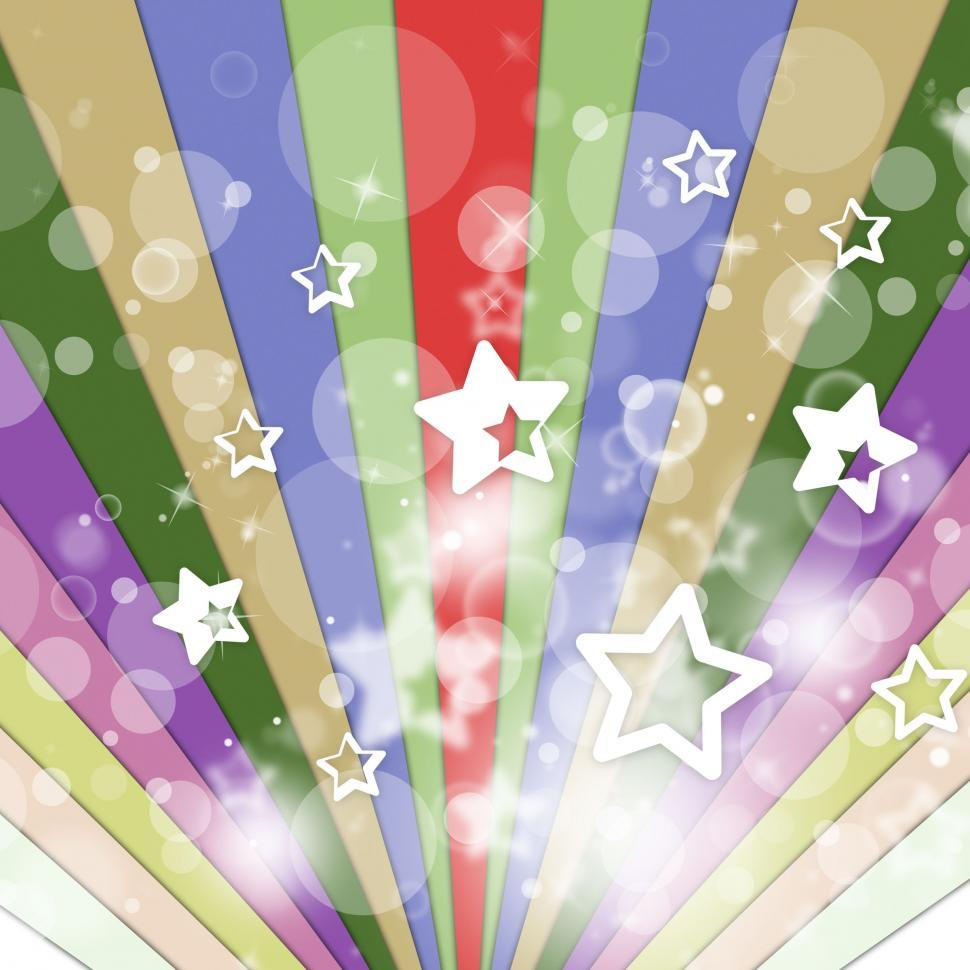 Download Free Stock Photo of Color Rays Means Background Stars And Starry