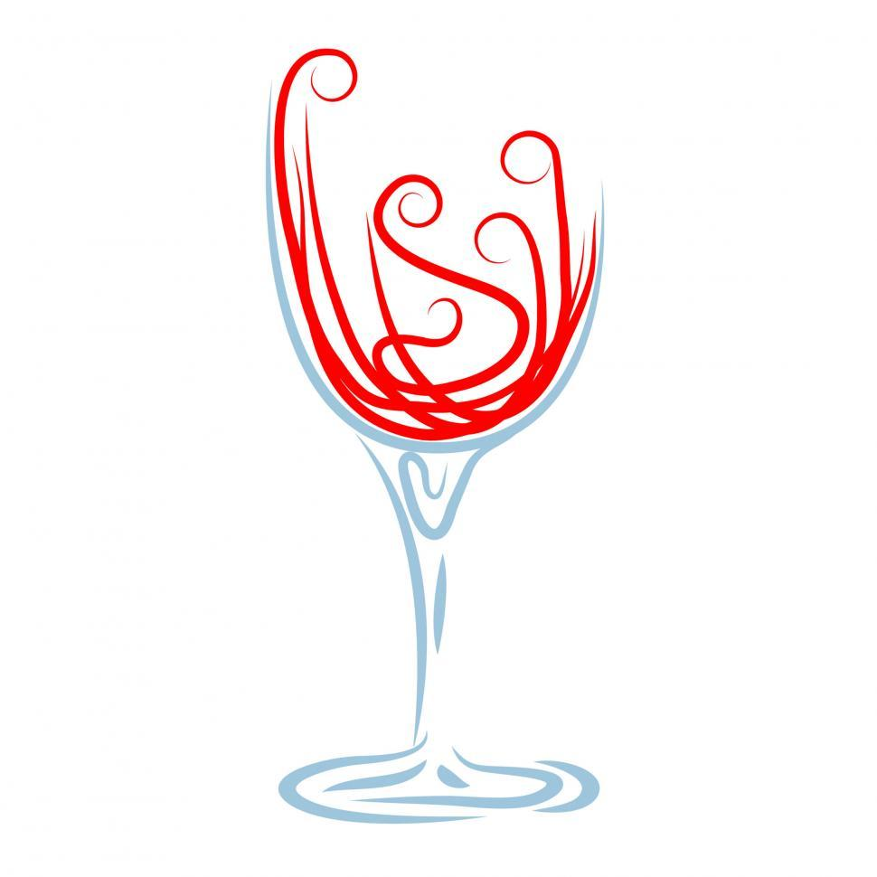Download Free Stock HD Photo of Wine Glass Shows Celebrations Celebrate And Winery Online