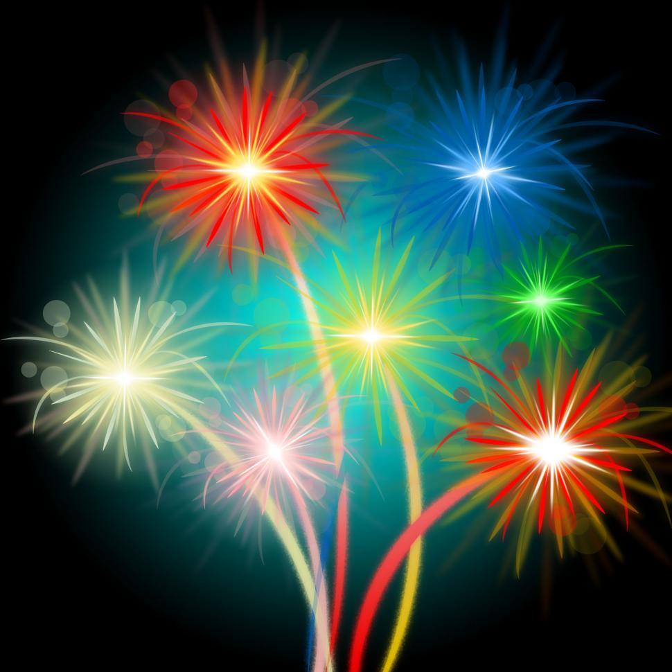 Download Free Stock HD Photo of Fireworks Color Means Night Sky And Celebrations Online