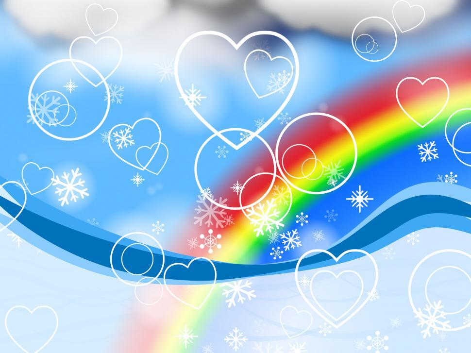 Download Free Stock HD Photo of Background Rainbow Represents Valentine s Day And Abstract Online