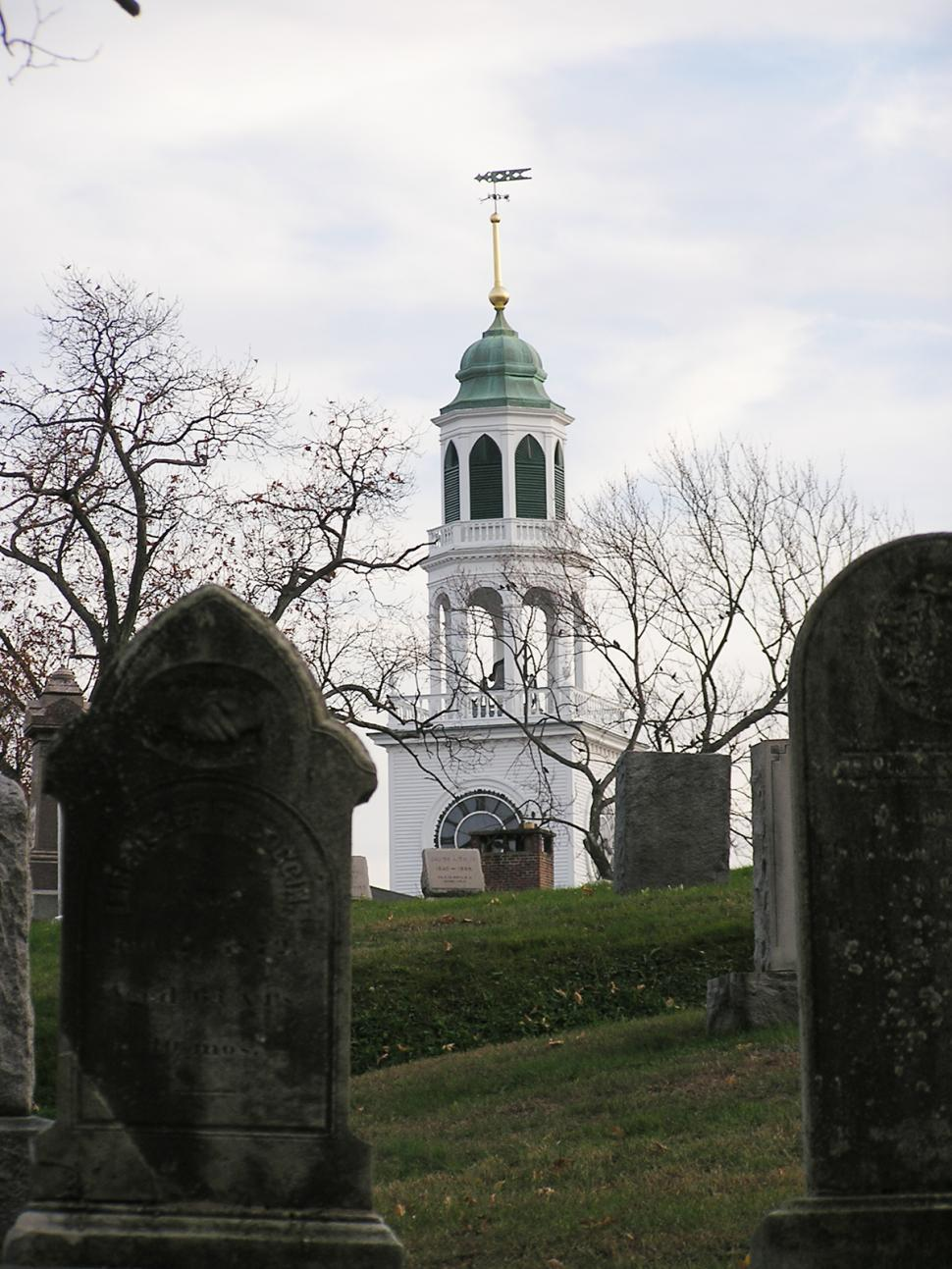 Download Free Stock HD Photo of Church from cemetary Online