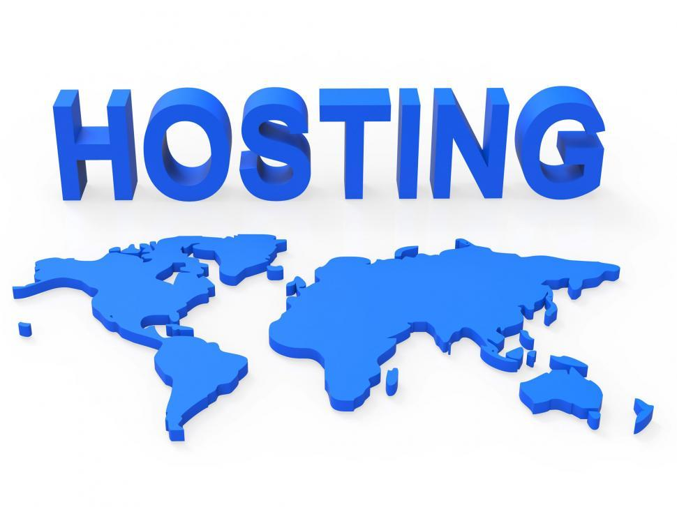 Download Free Stock HD Photo of Hosting World Shows Earth Webhosting And Worldwide Online