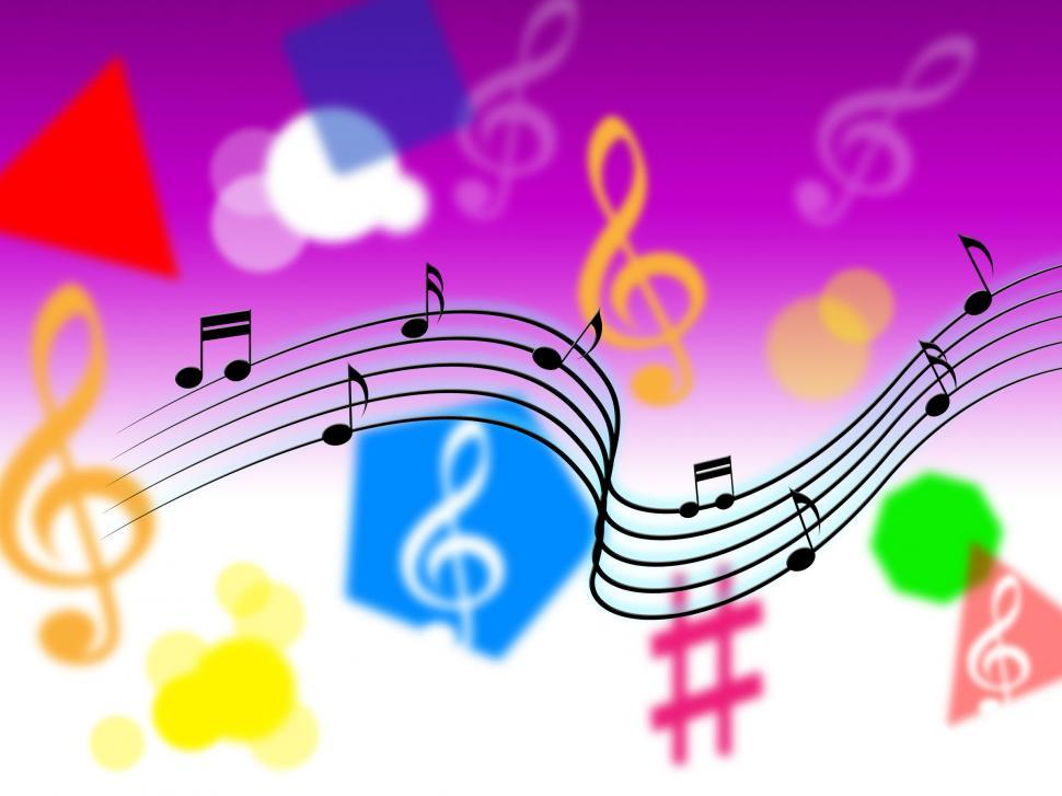 Download Free Stock HD Photo of Music Background Shows Song Tune Or Instruments  Online