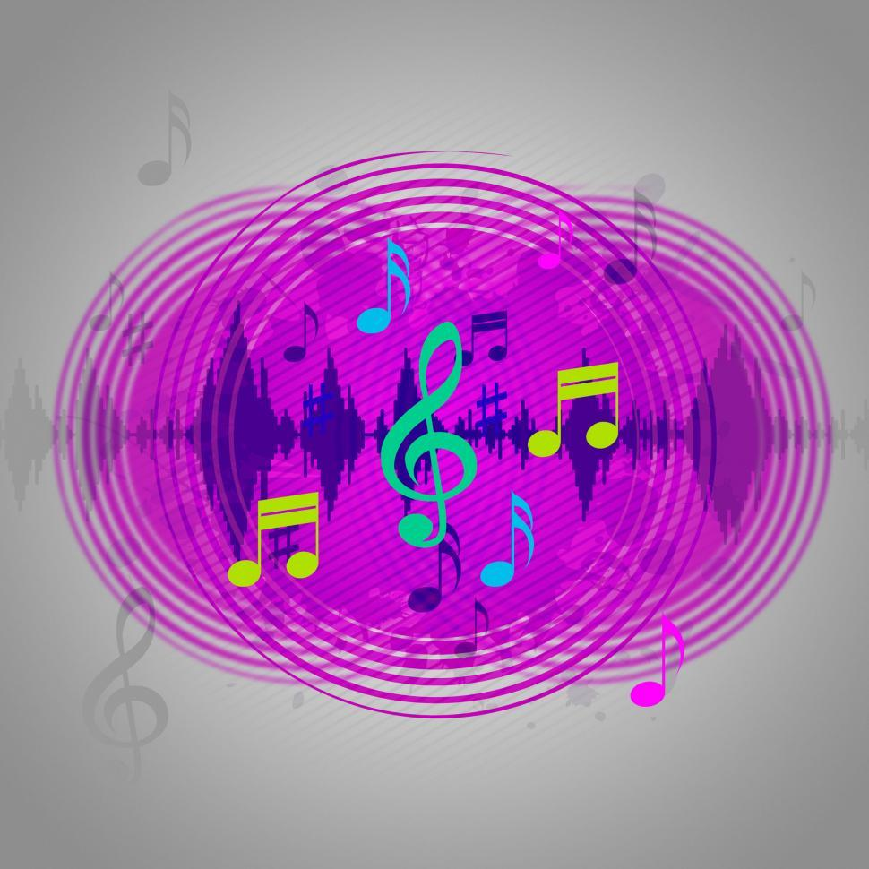 Download Free Stock HD Photo of Purple Music Background Shows CD Record Or Pop  Online