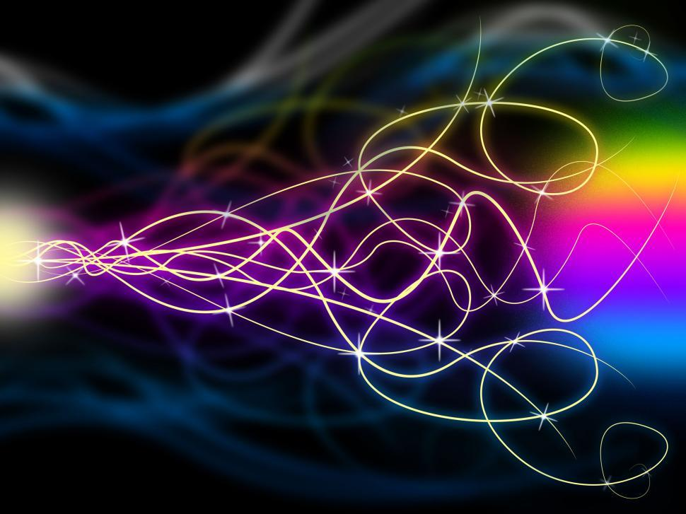 Download Free Stock Photo of Squiggles Background Means Swirly Lines At Night