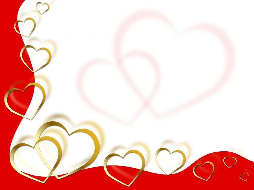 Download Free Stock Photo of Hearts Background Means Shows Partner Romance And Red