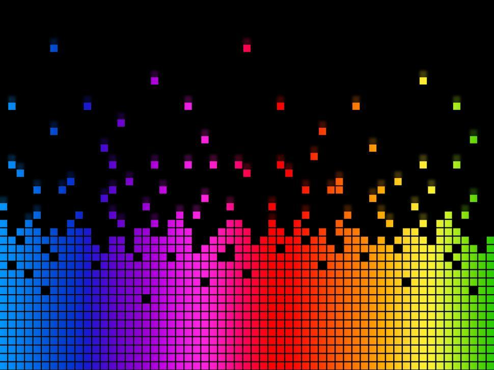 Download Free Stock HD Photo of Rainbow Soundwaves Background Means Musical Playing Or DJ  Online