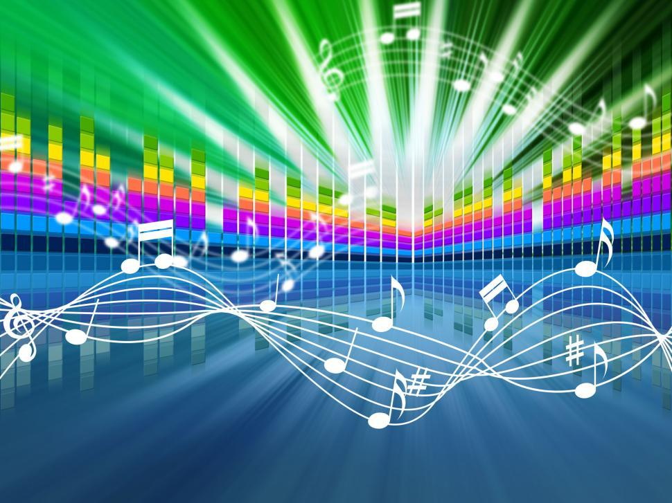 Download Free Stock HD Photo of Music Background Means Soundwaves Tune And Singing  Online