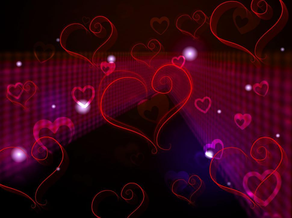 Download Free Stock Photo of Hearts Background Shows Love Affection And Adoring