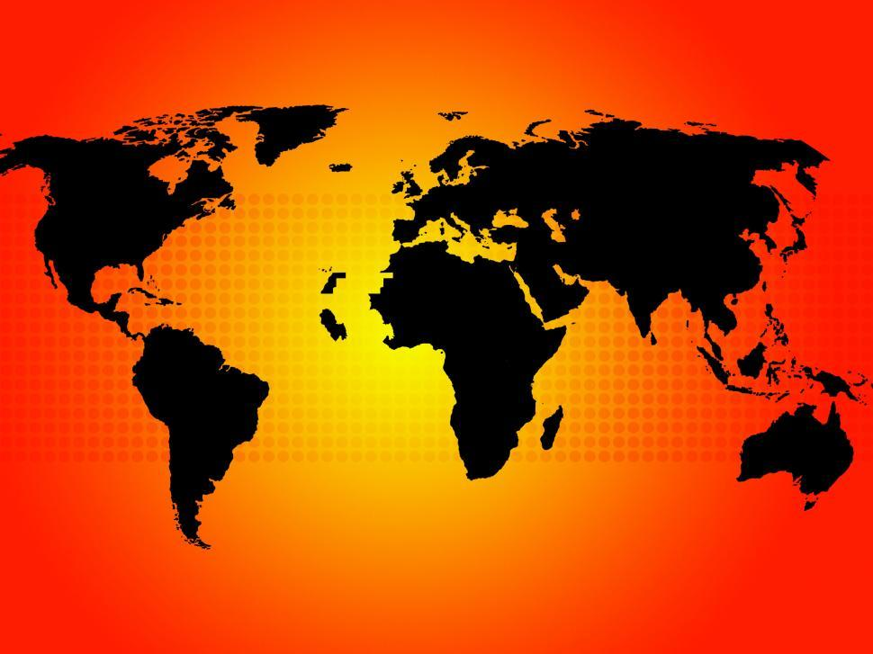 Download Free Stock HD Photo of World Map Background Shows Continents And Countries  Online