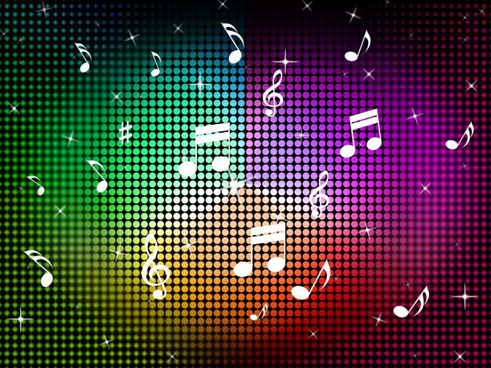 Download Free Stock HD Photo of Music Color Background Means Jazz Classical And Notes  Online