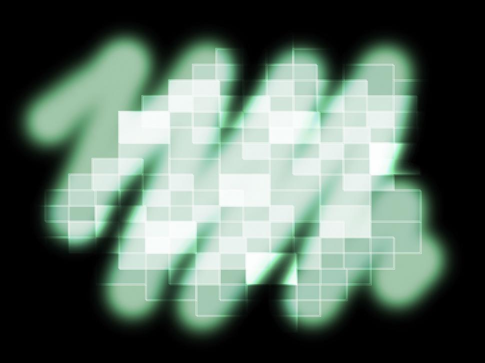 Download Free Stock Photo of Blurry Pixel Pattern Shows Glowing Blurry Or Reflection