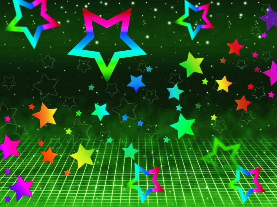 Download Free Stock HD Photo of Rainbow Stars Background Shows Heavens And Astronomy  Online