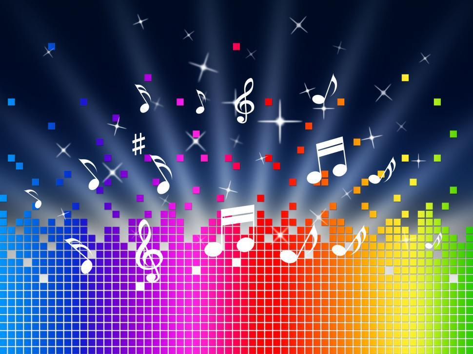Download Free Stock HD Photo of Rainbow Music Background Shows Harmony Sounddwaves Or Piece  Online
