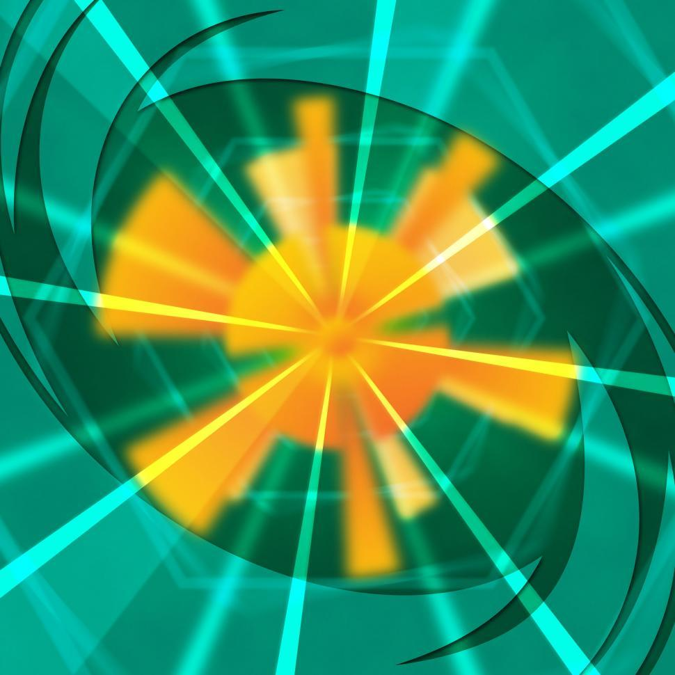 Download Free Stock HD Photo of Green Sun Background Shows Light Beams And Waves  Online