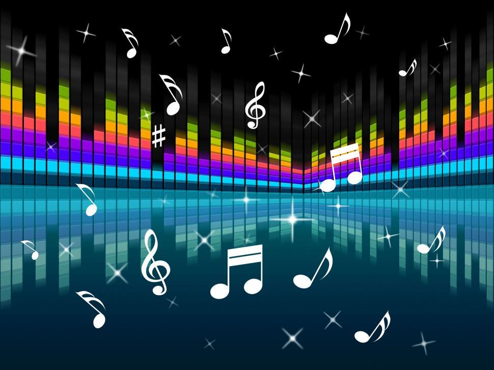 Download Free Stock Photo of Music Background Means Harmony DJ Or Instruments