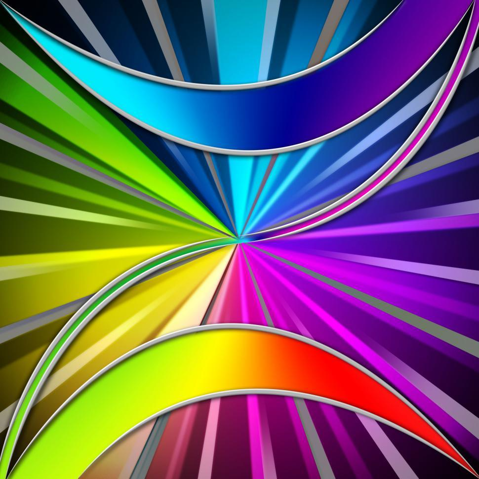 Download Free Stock HD Photo of Colorful Leaves Background Means Plant And Rainbow Rays  Online