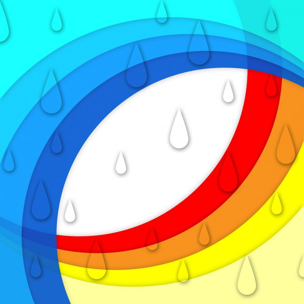 Download Free Stock HD Photo of Colorful Curves Background Means Rainbow And Rain Drops  Online
