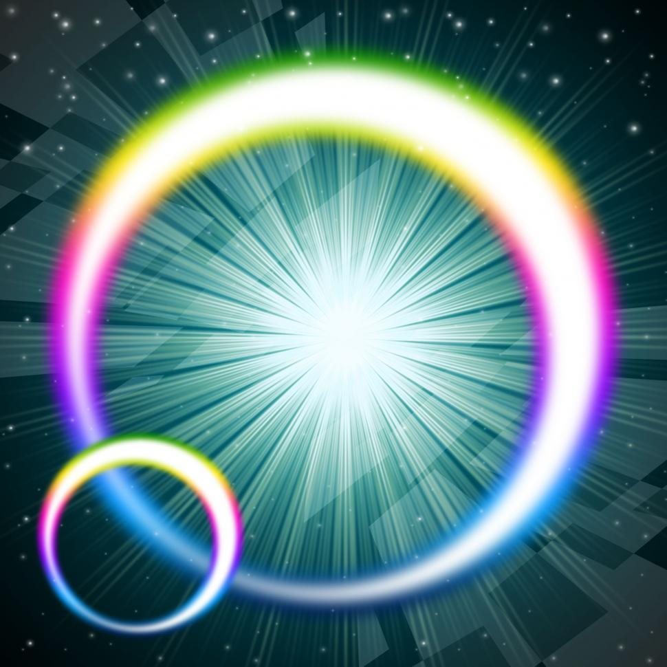 Download Free Stock HD Photo of Rainbow Circles Background Means Colorful Round And Brilliant St Online