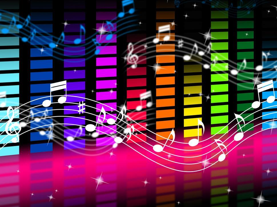 Download Free Stock HD Photo of Music Background Means Rock Pop Or Classical Sounds  Online