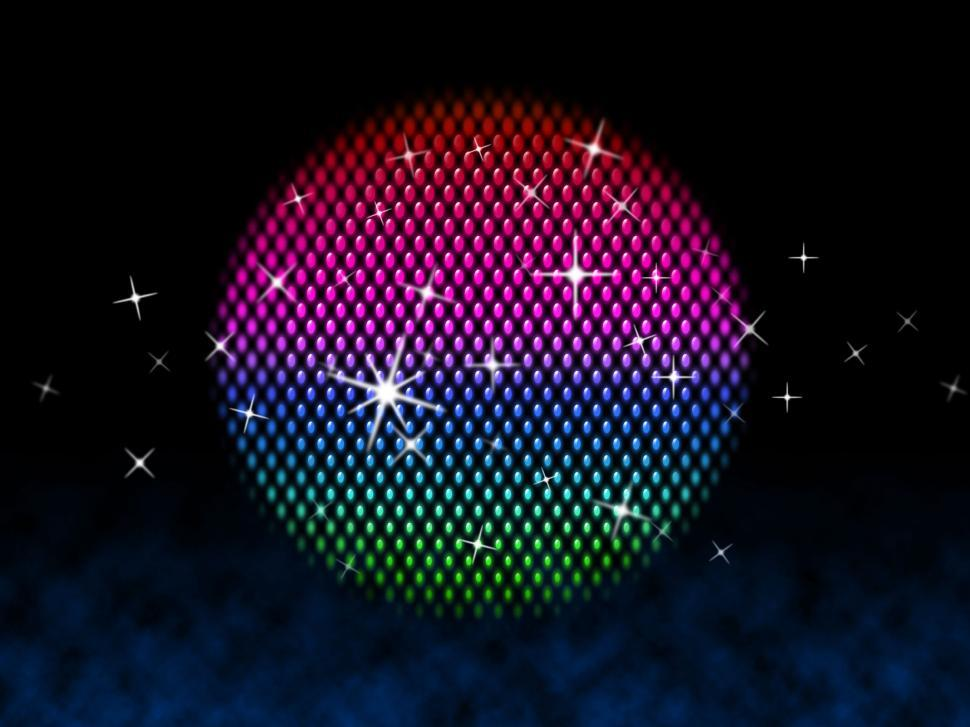 Download Free Stock HD Photo of Colorful Ball Means Disco Stars And Lighting  Online