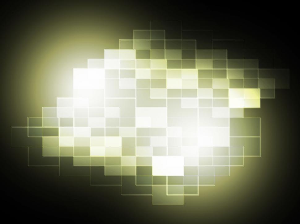 Download Free Stock Photo of Blurry Pixel Light Spot Shows Modern Art Or Creativity