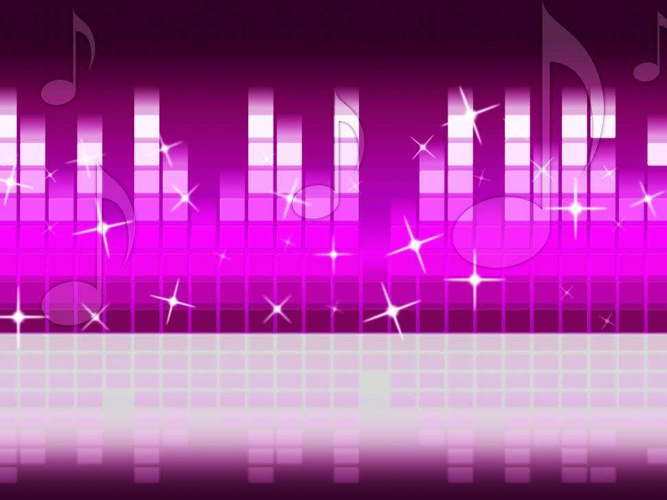 Download Free Stock Photo of Pink Music Background Means Singing Jazz And Piece