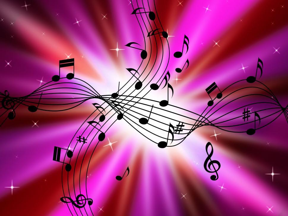 Download Free Stock HD Photo of Pink Music Background Shows Musical Instruments And Brightness  Online