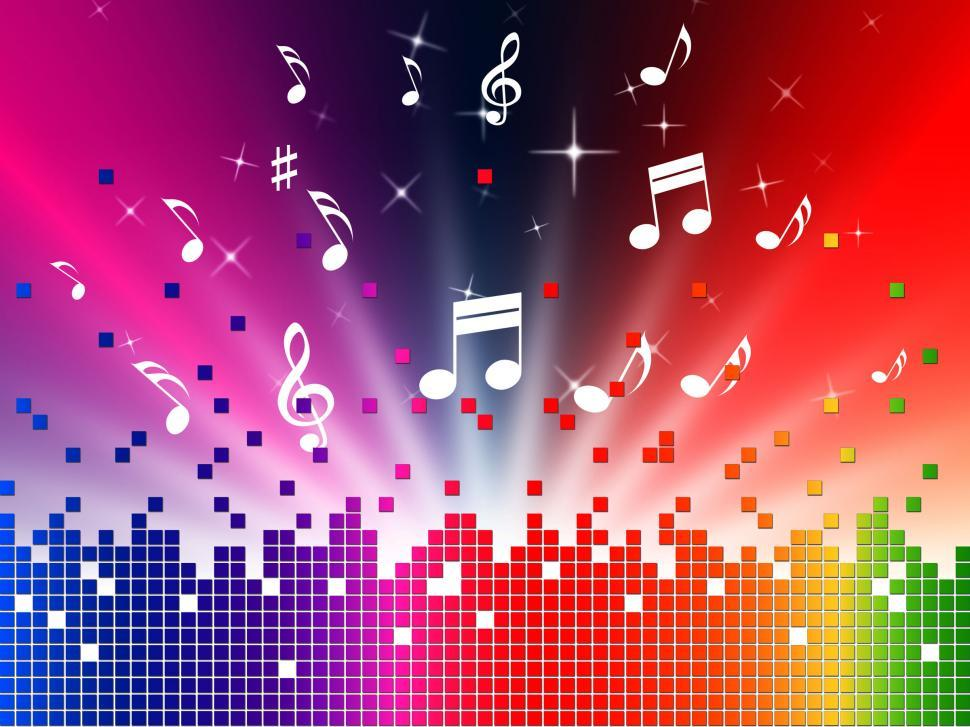 Download Free Stock Photo of Colorful Music Background Shows Sounds Jazz And Harmony