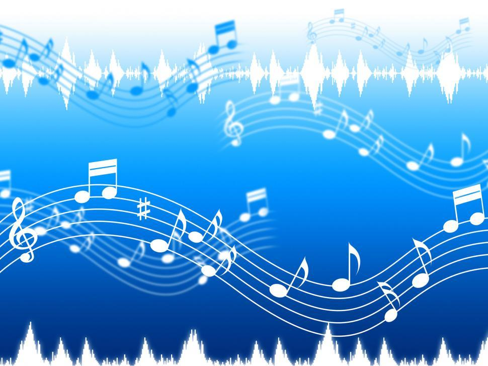 Download Free Stock Photo of Blue Music Background Means Soul Jazz Or Blues