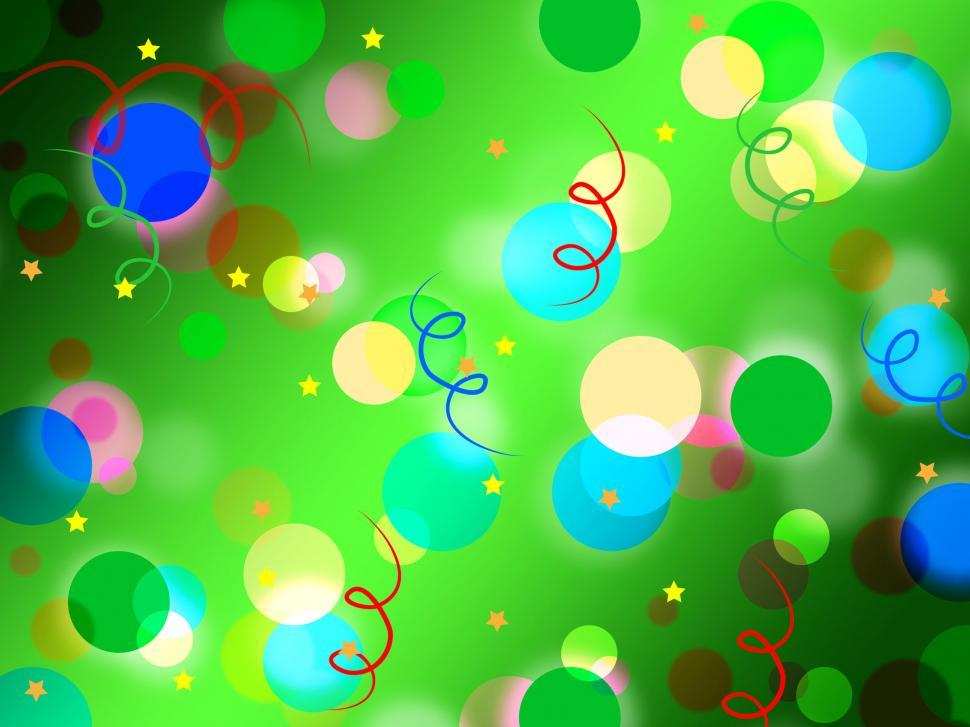 Download Free Stock HD Photo of Green Spots Background Means Light Circles And Curls  Online