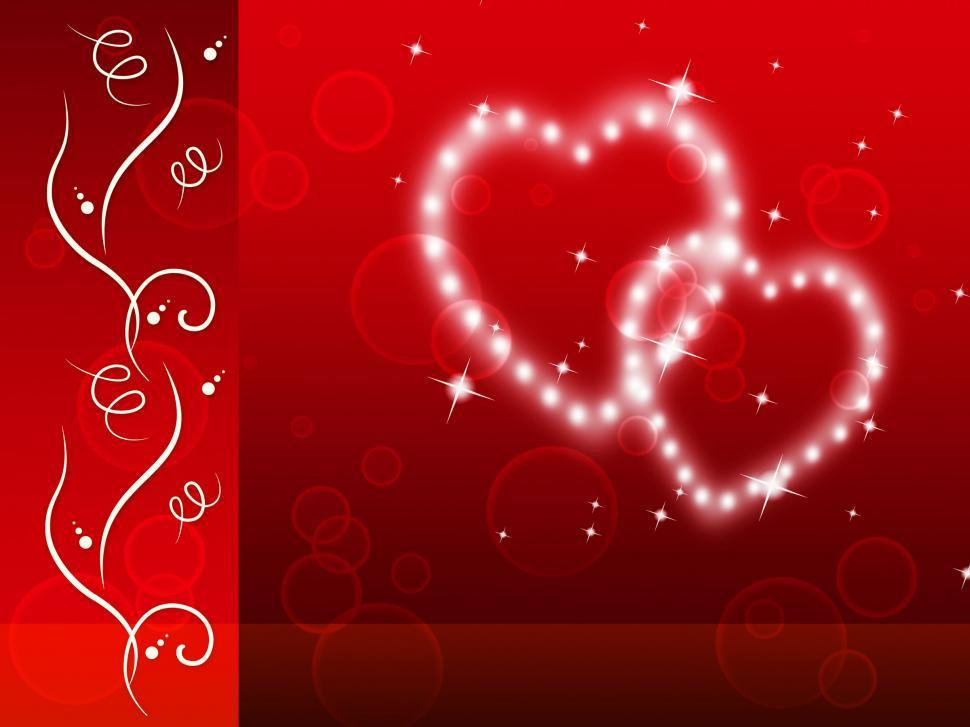 Download Free Stock Photo of Red Hearts Background Means Tenderness Lover And Floral