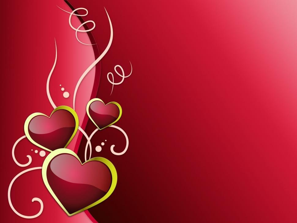 Download Free Stock HD Photo of Hearts Background Means Romanticism  Passion And Love   Online