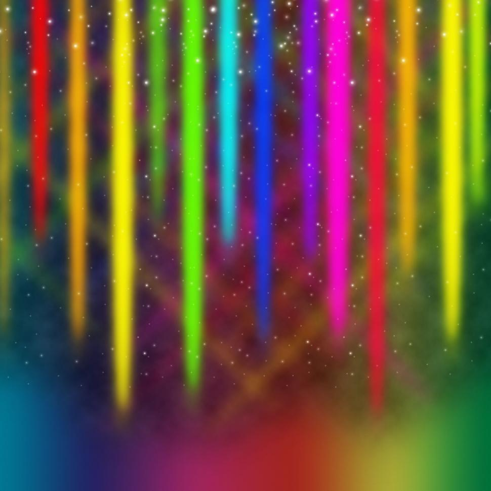 Download Free Stock Photo of Colorful Streaks Background Means Multicolored Bands in Sky