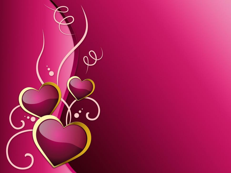 Download Free Stock Photo of Hearts Background Shows Romantic And Passionate Love
