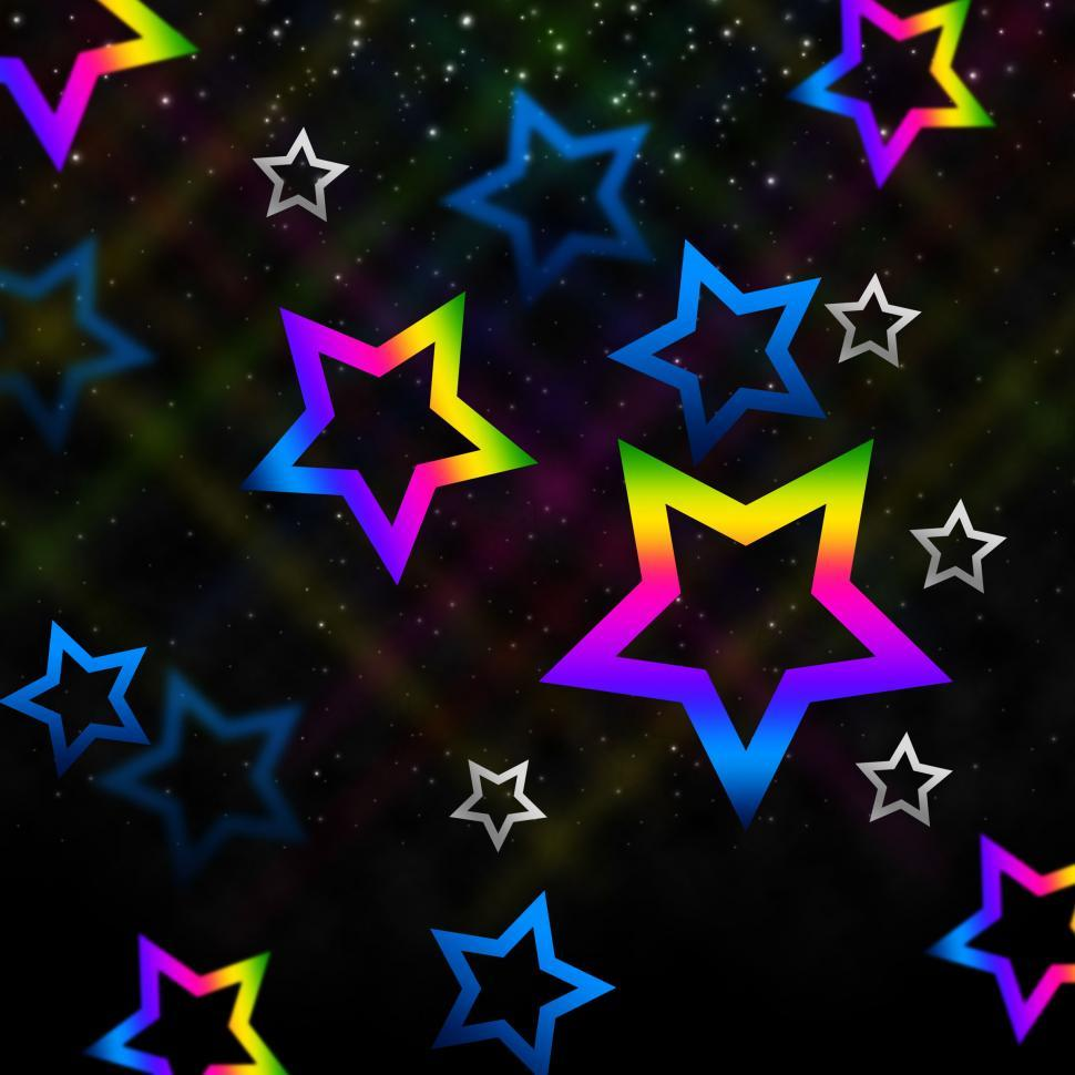 Download Free Stock Photo of Sky Stars Background Means Twinkling In Space