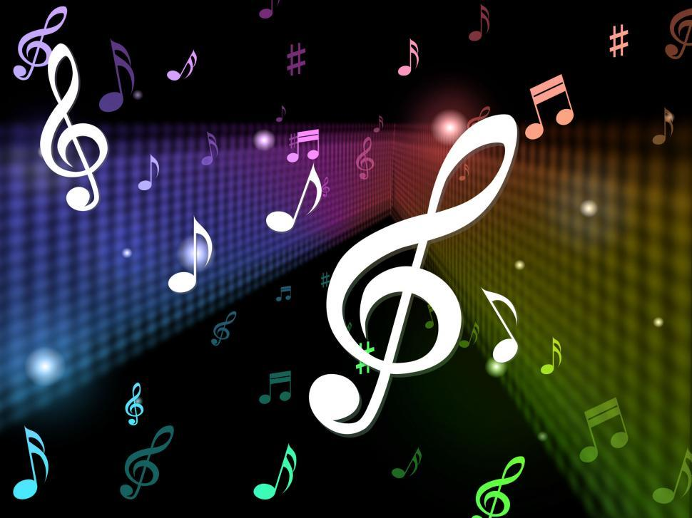 Download Free Stock Photo of Music Background Means Playing Notes And Songs