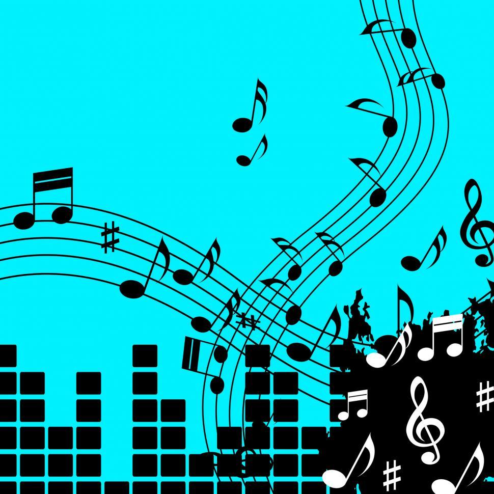 Download Free Stock Photo of Green Music Background Shows Playing Song Or Pop