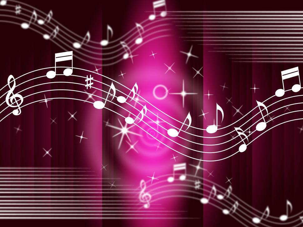 Download Free Stock Photo of Purple Music Background Means Melody And Tune