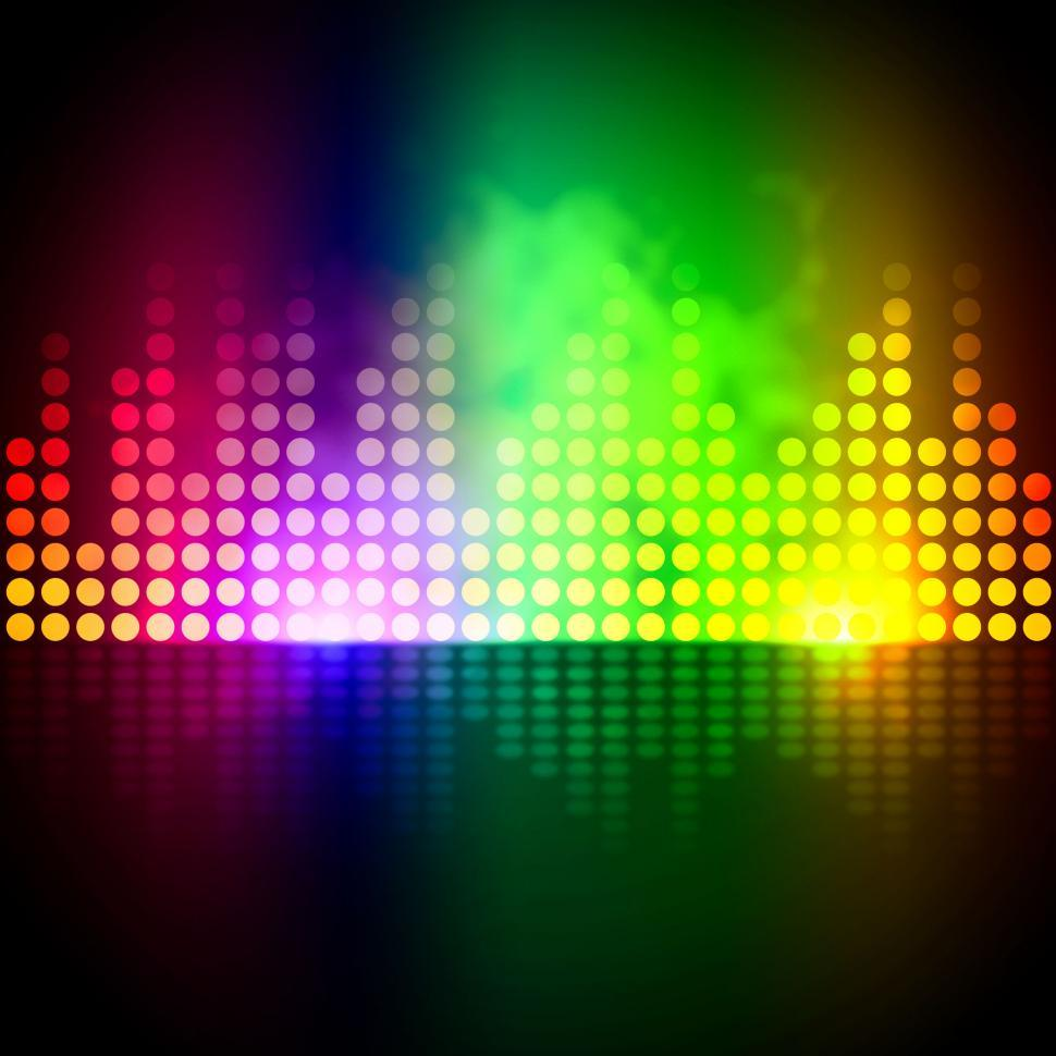 Download Free Stock HD Photo of Music Equalizer Background Means Volume Beats Display  Online