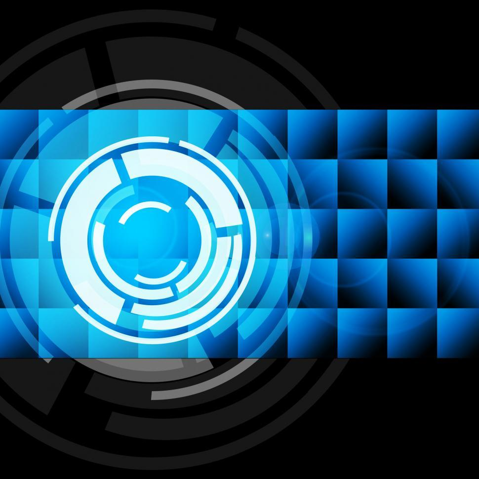 Download Free Stock HD Photo of Blue Circles Background Shows Records And Gramophone  Online