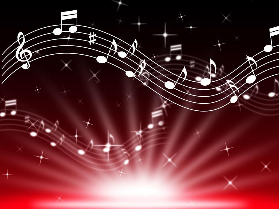 Download Free Stock Photo of Red Music Background Means Musical Playing And Brightness