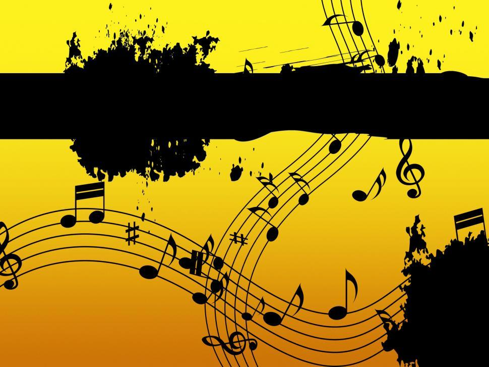Download Free Stock HD Photo of Music Background Means Black Line Classical And Harmony  Online