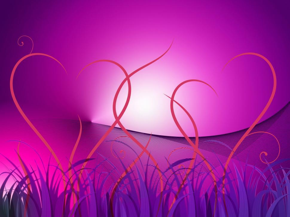 Download Free Stock HD Photo of Grass Heart Background Shows Romantic Landscape Or Wallpaper  Online